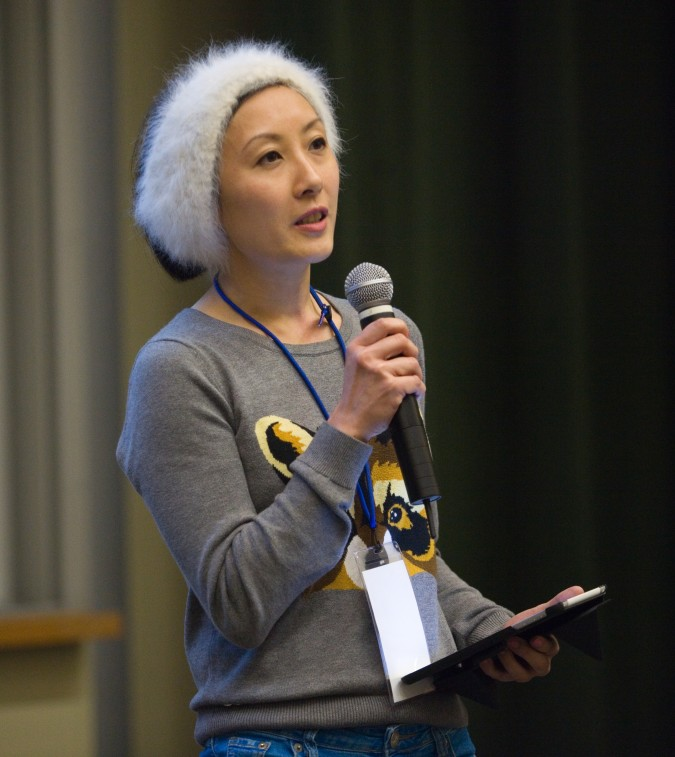 Woof founder from Hong Kong at 2013 Global Social Venture Competition, April 12 2013. Photo by Kevin Warnock.
