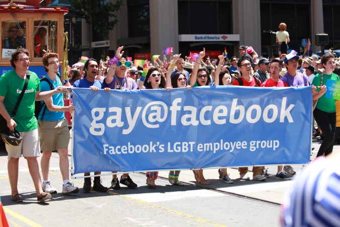 San Francisco Pride Parade and Celebration 2013 - picture 26, June 30, 2013, Facebook company banner
