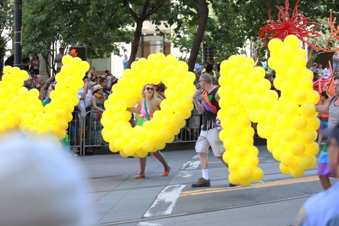 "San Francisco Pride Parade and Celebration 2013 - picture 3 - ""Love Won"" spelled with balloons"