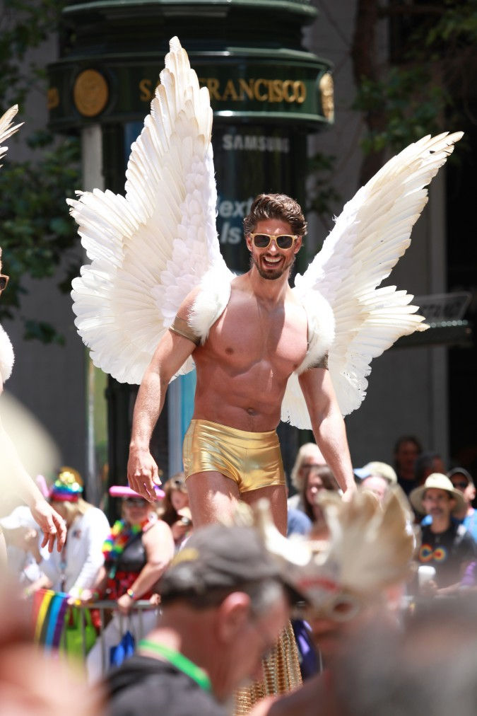 San Francisco Pride Parade and Celebration 2013 - picture 31, June 30, 2013, winged man on stilts