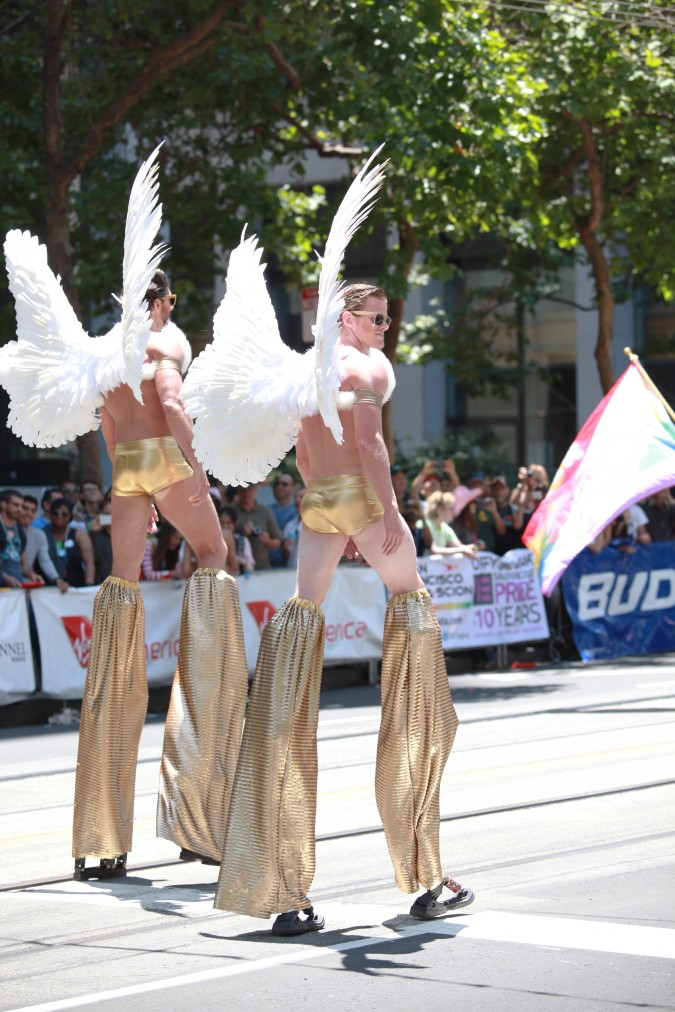 San Francisco Pride Parade and Celebration 2013 - picture 34, June 30, 2013, winged men on stilts