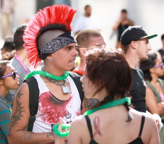 San Francisco Pride Parade and Celebration 2013 - picture 58, June 30, 2013, red mohawk couple