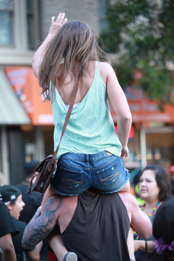 San Francisco Pride Parade and Celebration 2013 - picture 72, June 30, 2013, woman piggybacker