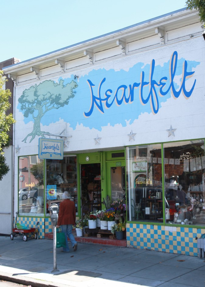 Exterior of Heartfelt gift store at 436 Cortland Avenue, San Francisco, California, USA, August 1, 2013. Photo by Kevin Warnock.