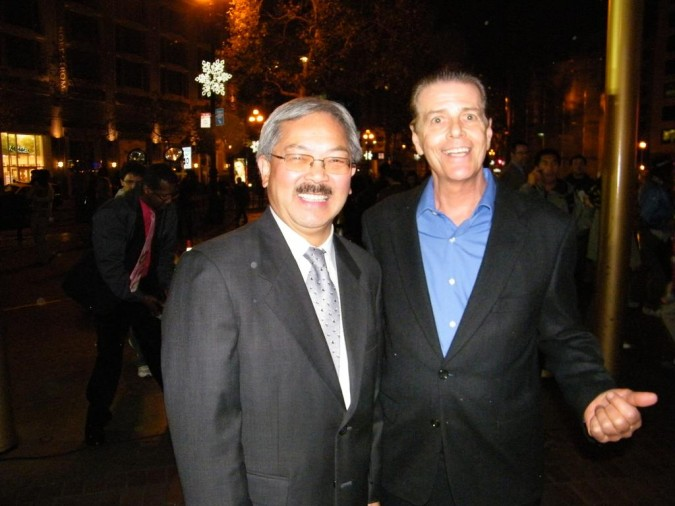 San Francisco Mayor Ed Lee with Richard Lefrak